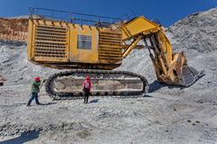 Cooper mine - Open pit 5 Royalty Free Stock Images