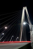Cooper River Bridge. The Cooper River Bridge at Night (Long Exposure royalty free stock photo