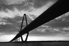 Cooper River Bridge in Charleston. Royalty Free Stock Photo