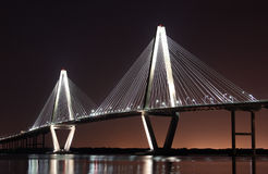 Cooper River Bridge at night Stock Photos