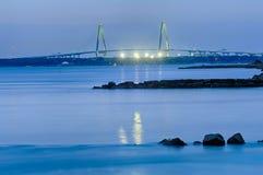 Cooper River Bridge at night Charlesto n South Carolina Stock Images