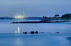 Cooper River Bridge at night  Charleston South Carolina Stock Photography