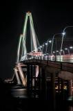 Cooper River Bridge at night Charleston South Carolina Royalty Free Stock Photo