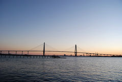 Cooper River Bridge Sunset 2 Stock Image