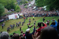 Cooper`s hill Cheese Rolling Race 2017 Stock Photography