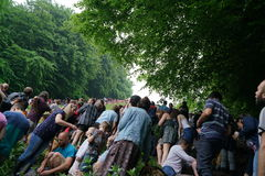 Cooper`s hill Cheese Rolling Race 2017 Stock Image