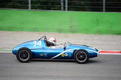 1957 Cooper T43 Formula 2 car. A Historic Grand Prix Cars Association event was hosted at Monza in occasion of the 2016 Intereuropean Cup Royalty Free Stock Image