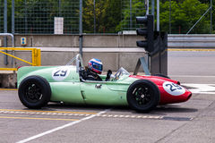 Cooper T51. Historic racing car photographed during Brno Grand Prix Revival event on 5 July 2014 in Automotodrom Brno, Czech Republic Royalty Free Stock Images