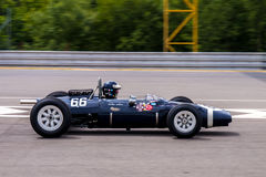 Cooper T66. Historic racing car photographed during Brno Grand Prix Revival event on 5 July 2014 in Automotodrom Brno, Czech Republic Stock Photos