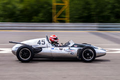 Cooper T45. Historic racing car photographed during Brno Grand Prix Revival event on 5 July 2014 in Automotodrom Brno, Czech Republic Royalty Free Stock Photos
