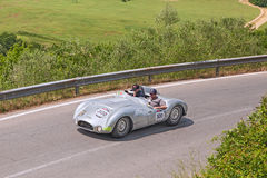 Cooper T33 Jaguar (1954) in Mille Miglia 2014 Royalty Free Stock Photos