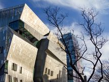 The Cooper Union Building in New York Ciy. NEW YORK CITY – FEBRUARY 24: Sunlight shines on The Cooper Union building in the East Village neighborhood of Royalty Free Stock Images