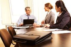Cooperação do negócio Imagens de Stock