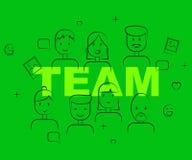 Cooperação e equipes de Team Of People Shows Teamwork ilustração stock