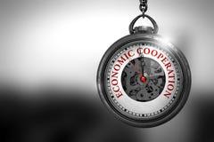 Cooperação econômica na cara do relógio de bolso ilustração 3D Imagens de Stock Royalty Free