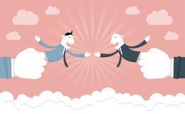 Cooperação & sucesso do homem de negócios ilustração royalty free