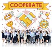 Coopera insieme Team Teamwork Partnership Concept Immagine Stock