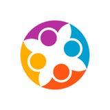Cooperación abstracta de la gente Plantilla del diseño del logotipo del vector Concep libre illustration