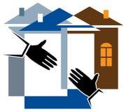 Cooperación de la renovación de la casa ilustración del vector