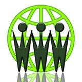 Cooperación mundial ilustración del vector