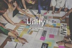 Cooperación Team Concept de la conexión de la comunidad de la unidad Imagen de archivo libre de regalías