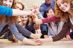 Cooperación y trabajo en equipo Fotografía de archivo libre de regalías