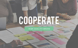 Cooperate Agreement Collaboration Partnership Concept Royalty Free Stock Photography
