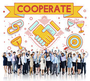 Cooperate Together Team Teamwork Partnership Concept Stock Image