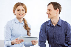 Cooperate for work Stock Photos
