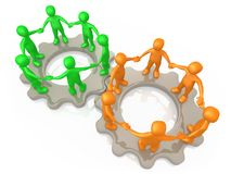 Cooperating Teams stock illustration