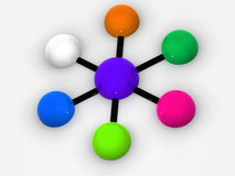 Cooperation. Very beautiful graphic three-dimensional image. organization with diversity. cooperation stock illustration