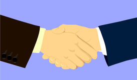 Cooperation. Two business man shake hands Royalty Free Stock Photo