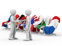 The Cooperation. stock illustration