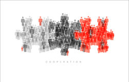Cooperation Brainstorming Teamwork concept Stock Image
