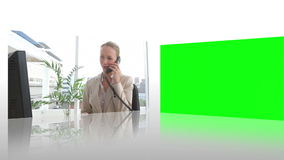 Cooperation between business people. Animation of cooperation between business people stock footage