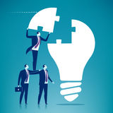 Cooperation. Business team cooperate. Concept vector illustration Royalty Free Stock Photos