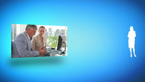 Cooperation between colleagues Royalty Free Stock Photos