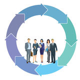 Cooperation concept with business professionals Royalty Free Stock Photo