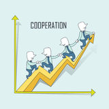 Cooperation concept Royalty Free Stock Photos