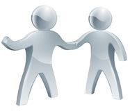 Cooperation concept. Of two people shaking hands in agreement Royalty Free Stock Photo