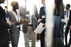Cooperation Meeting Networking Teamwork Fun Concept.  stock photo