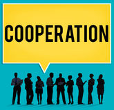 Cooperation Partnership Teamwork Connection Concept Stock Images