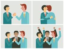 Cooperation set vector illustration