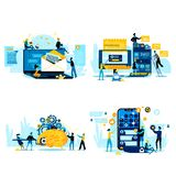 Cooperation for Success, Teamwork Business People stock illustration