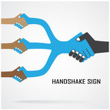 Cooperation symbol,partnership sign. Handshake abstract sign vector design template,business creative concept,cooperation symbol,partnership sign.vector Royalty Free Stock Photos