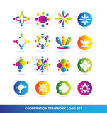 Cooperation teamwork logo Stock Images