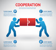 Cooperation and teamwork template vector illustration