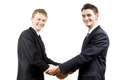 Cooperation between the two partners Stock Photography