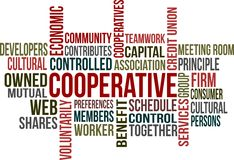 COOPERATIVE Royalty Free Stock Images