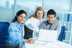 Cooperative colleagues Stock Image